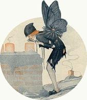 «Mariposa de invierno: la avanzada de Papá Noel», ilustración de Jean Tam, 1918